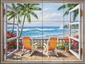 SK - Tropical Terrace  - Tile Mural